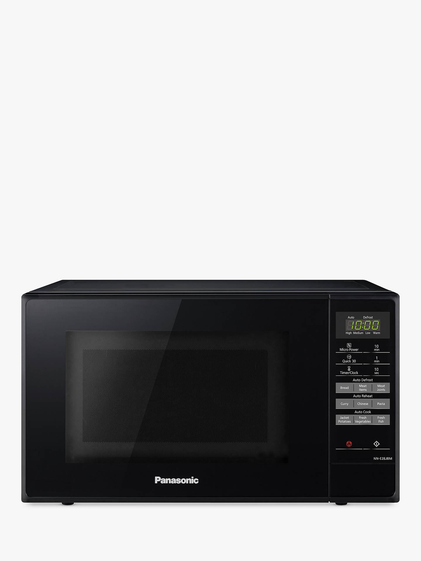Panasonic Nn E28jbmbpq Microwave Oven Black Online At Johnlewis