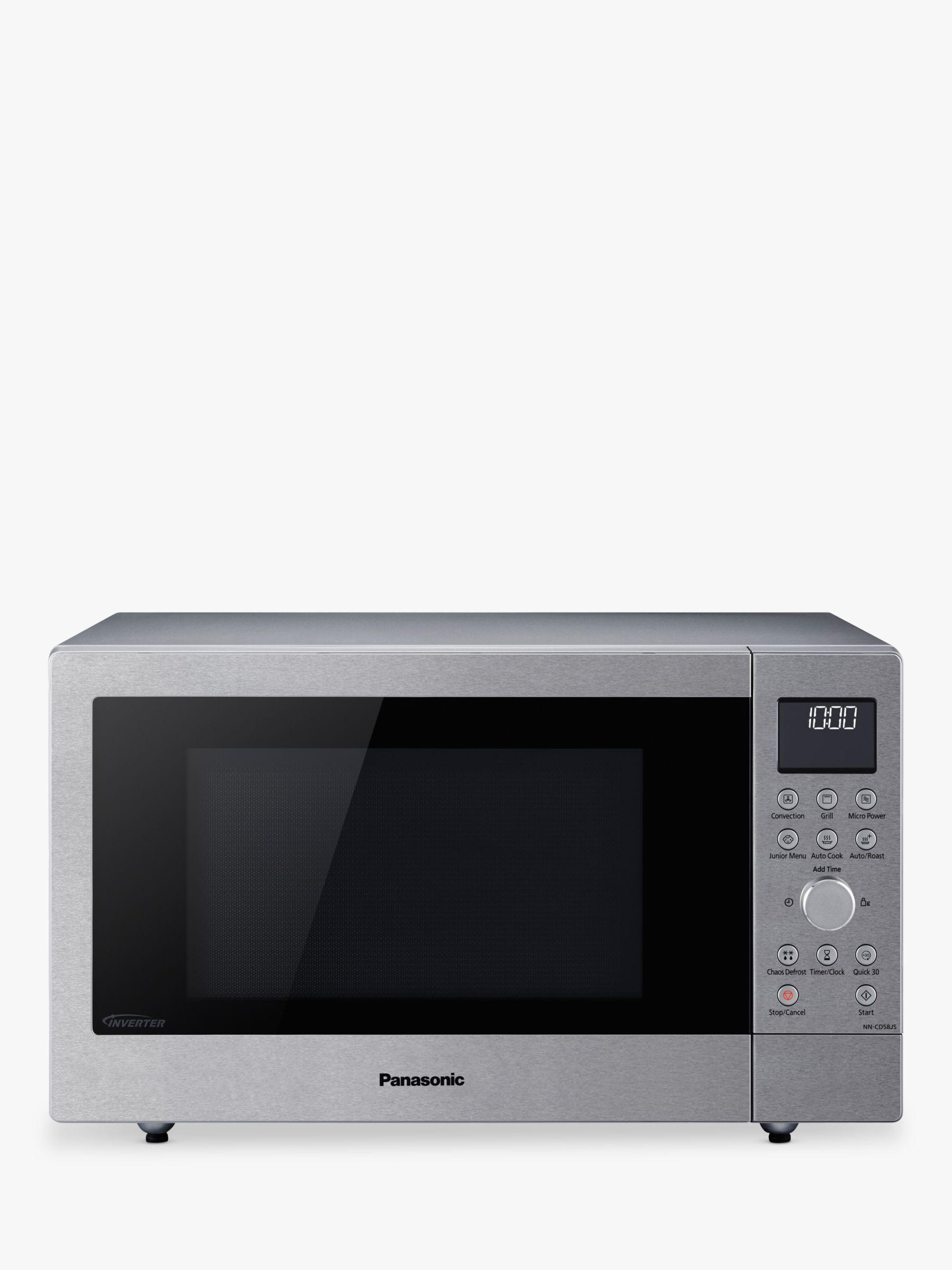 Panasonic Nn Cd58jsbpq 27l Slimline Combination Microwave Oven Stainless Steel At John Lewis Partners