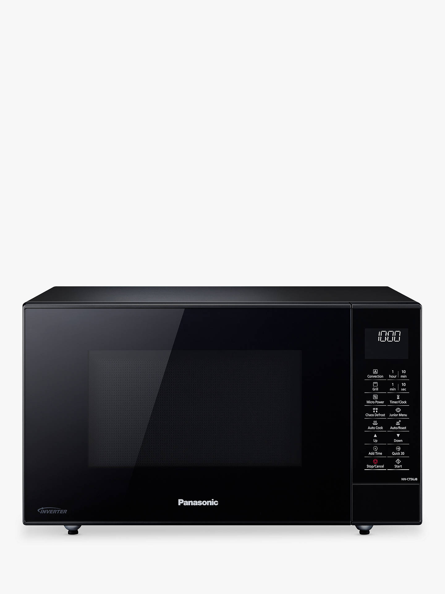 BuyPanasonic NN-CT56JBBPQ Slimline Combination Microwave Oven, Black Online  at johnlewis.com ...