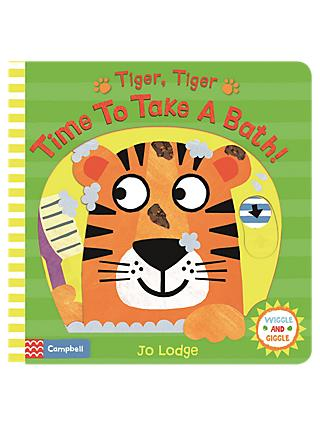Tiger, Tiger Time To Take A Bath Children's Book