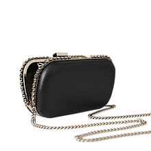 Buy Reiss Victoria Clutch Bag, Black Online at johnlewis.com