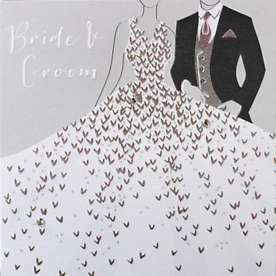 Image of Bellybutton Bubble Bride & Groom Couple Wedding Card