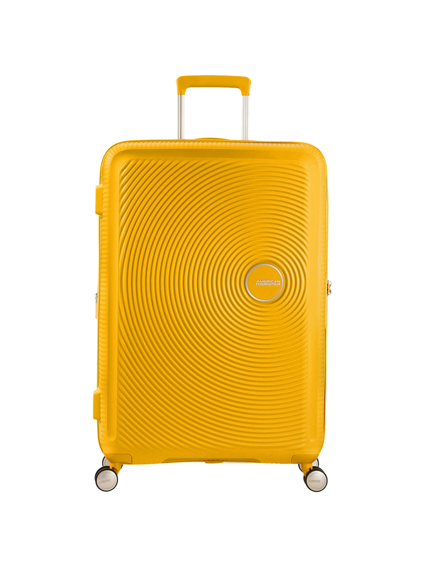 BuyAmerican Tourister Soundbox 4-Spinner Wheel 55cm Cabin Suitcase, Golden Yellow Online at johnlewis.com