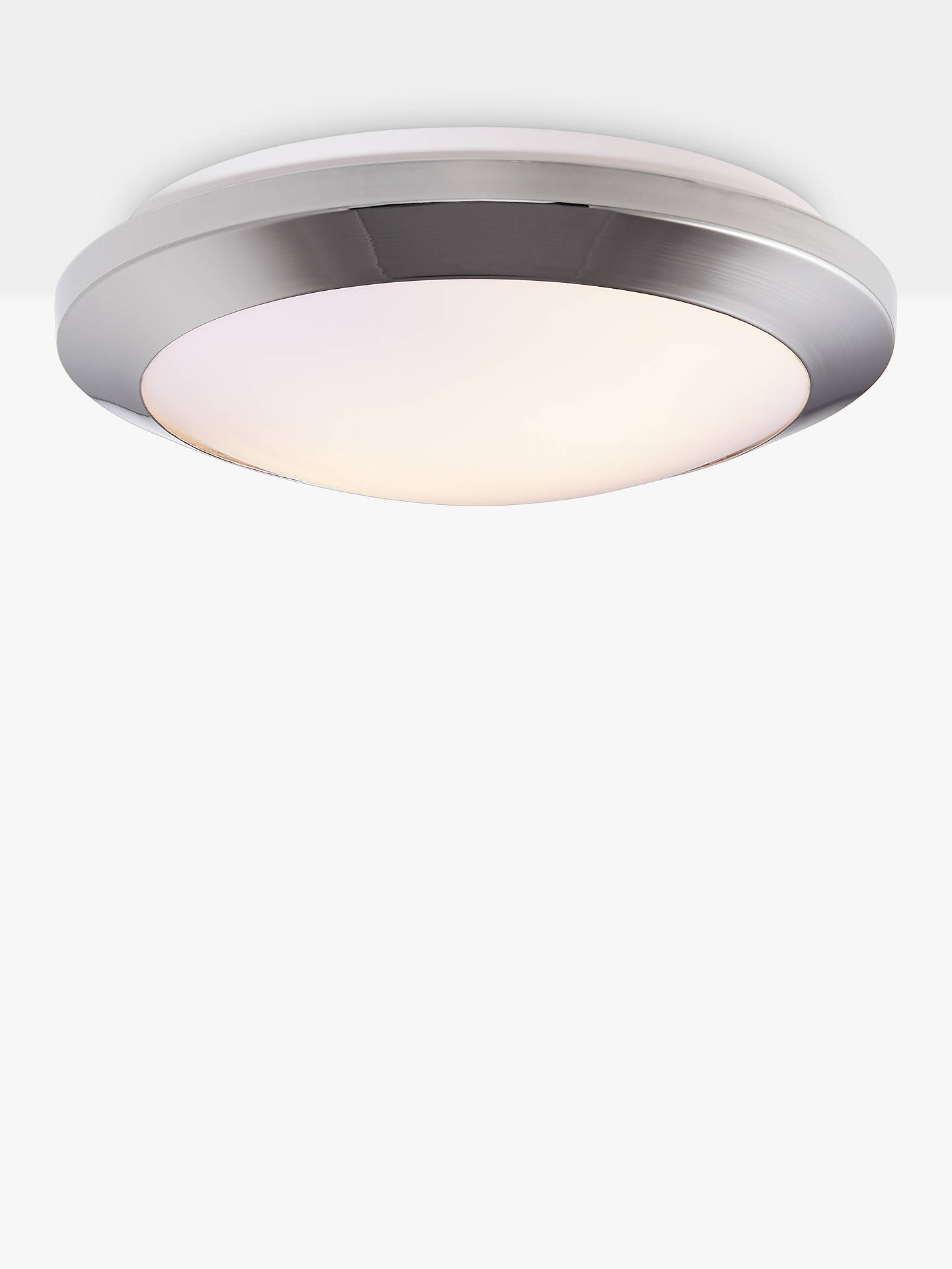 buy popular dd83b a9fab John Lewis & Partners Kara Flush Bathroom Ceiling Light, Chrome