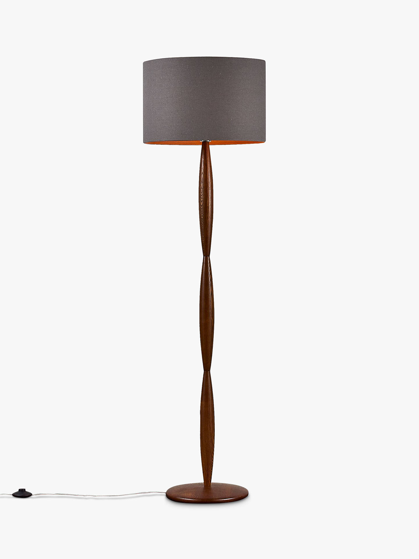 John Lewis Partners E Spindle Wooden Floor Lamp Brown Online At Johnlewis