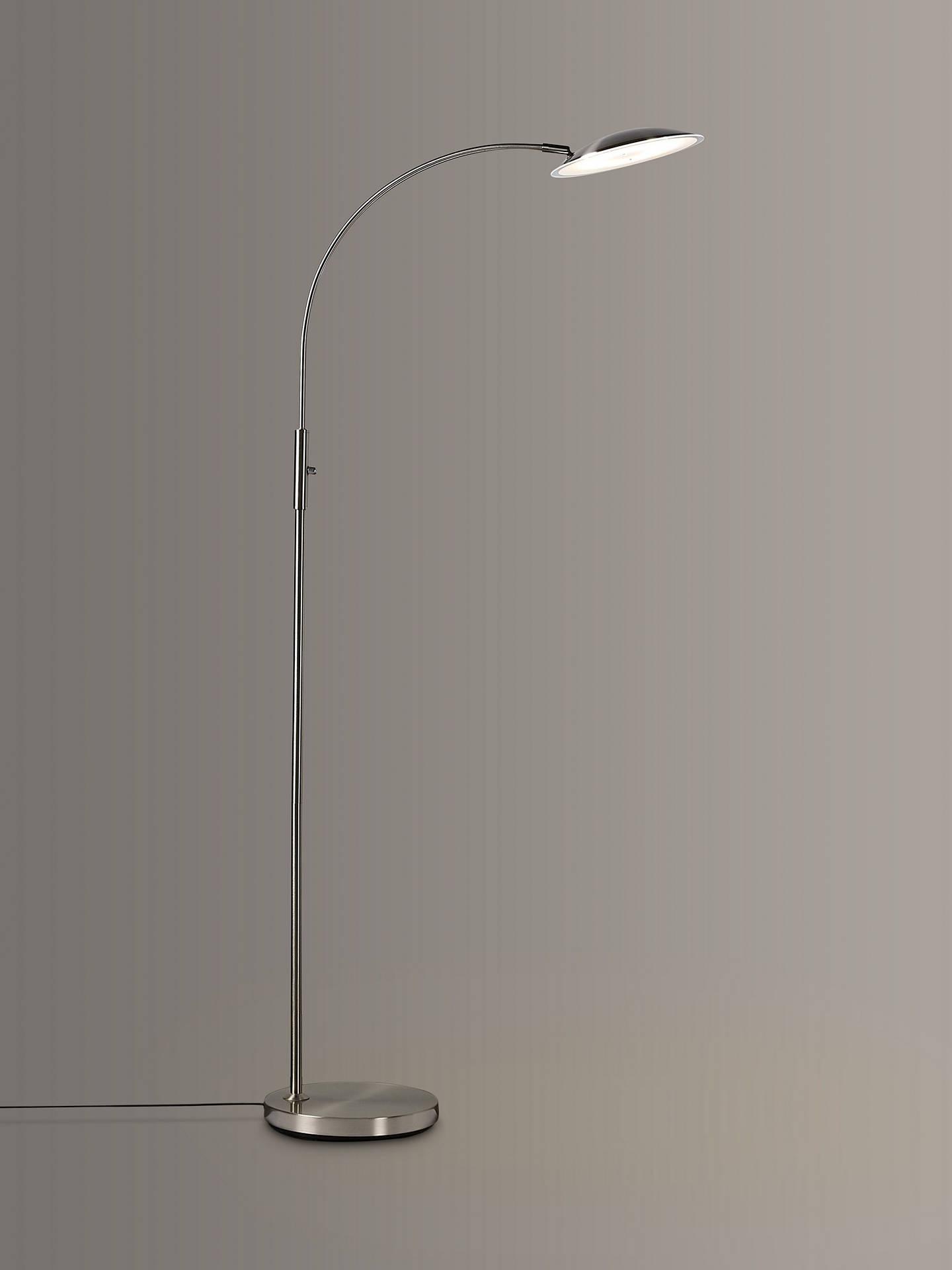 lowest price f676a 79dab John Lewis & Partners Alistair LED Floor Lamp, Satin Nickel