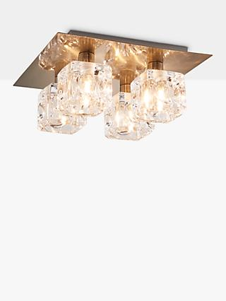 John Lewis & Partners Cuboid Semi Flush Ceiling Light