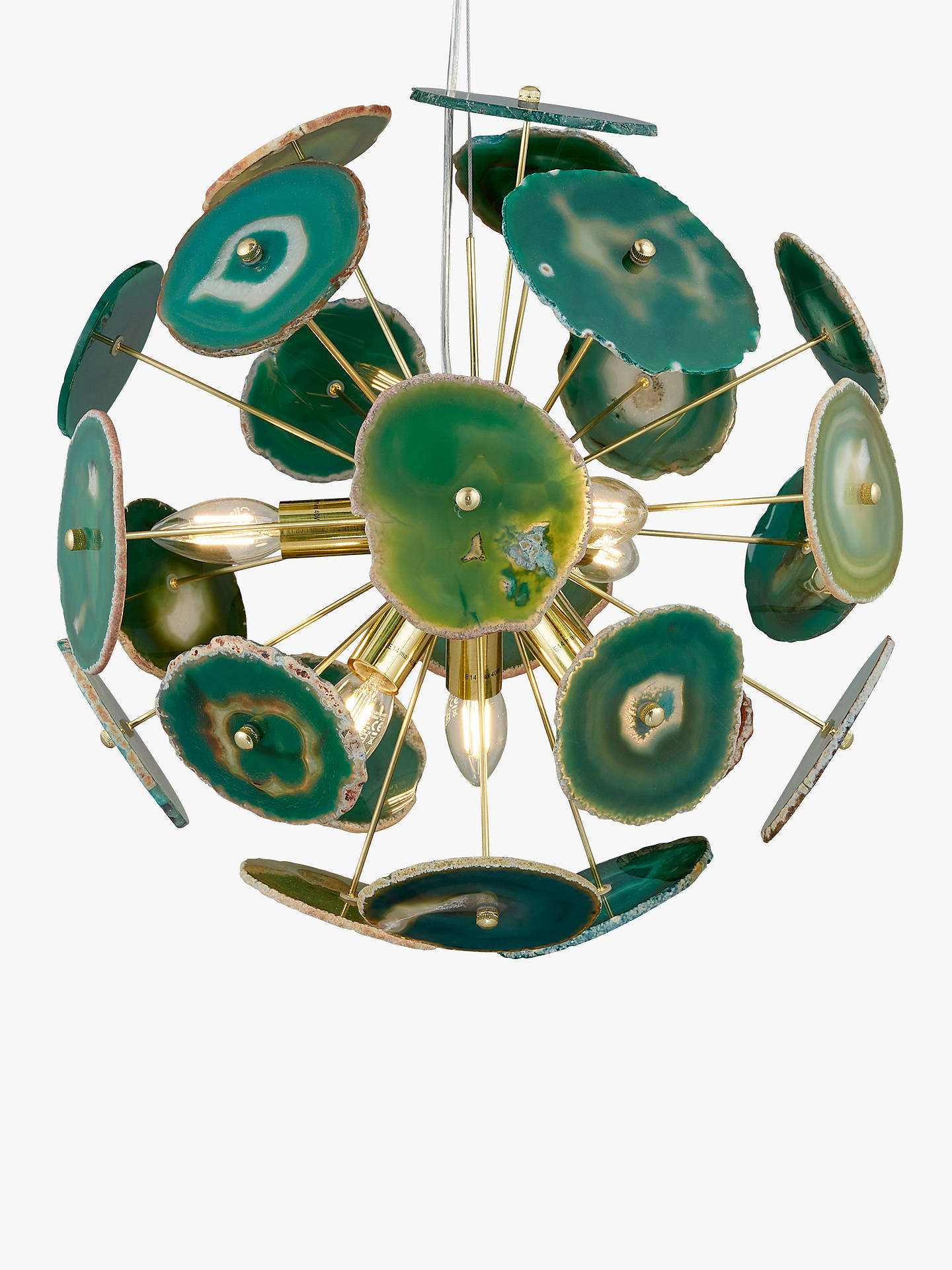 Buy John Lewis & Partners Delilah Agate Stone Ceiling Light, Green Online at johnlewis.com