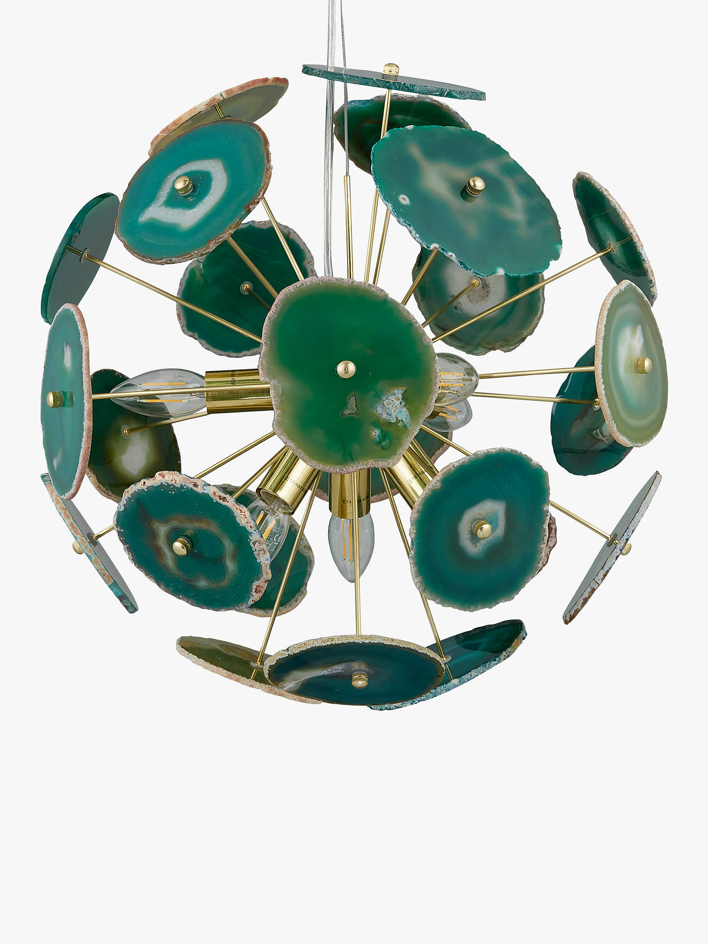 BuyJohn Lewis & Partners Delilah Agate Stone Ceiling Light, Green Online at johnlewis.com