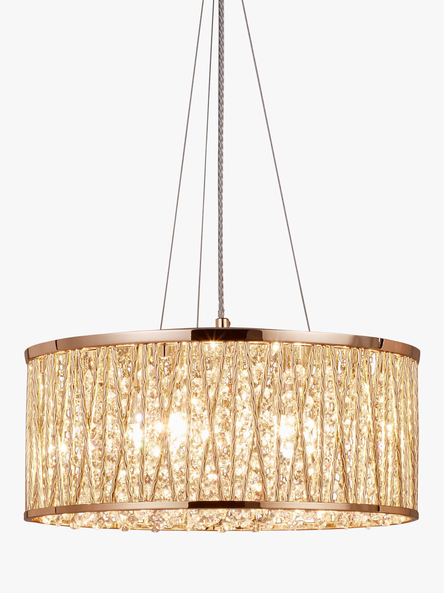 Buy john lewis partners emilia large crystal ceiling light gold online at johnlewis