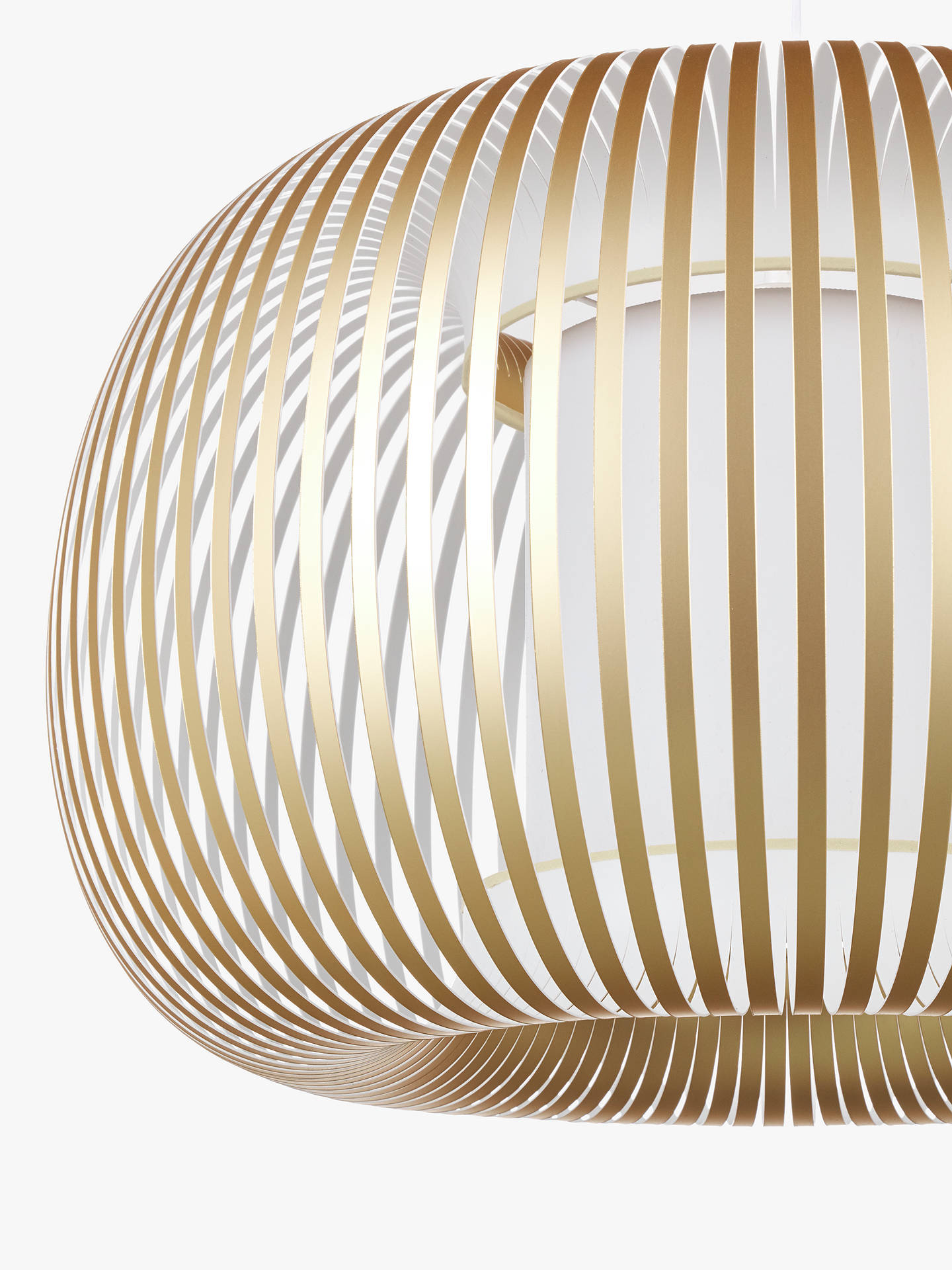 Buy John Lewis & Partners Harmony Large Ribbon Ceiling Light, Gold Online at johnlewis.com