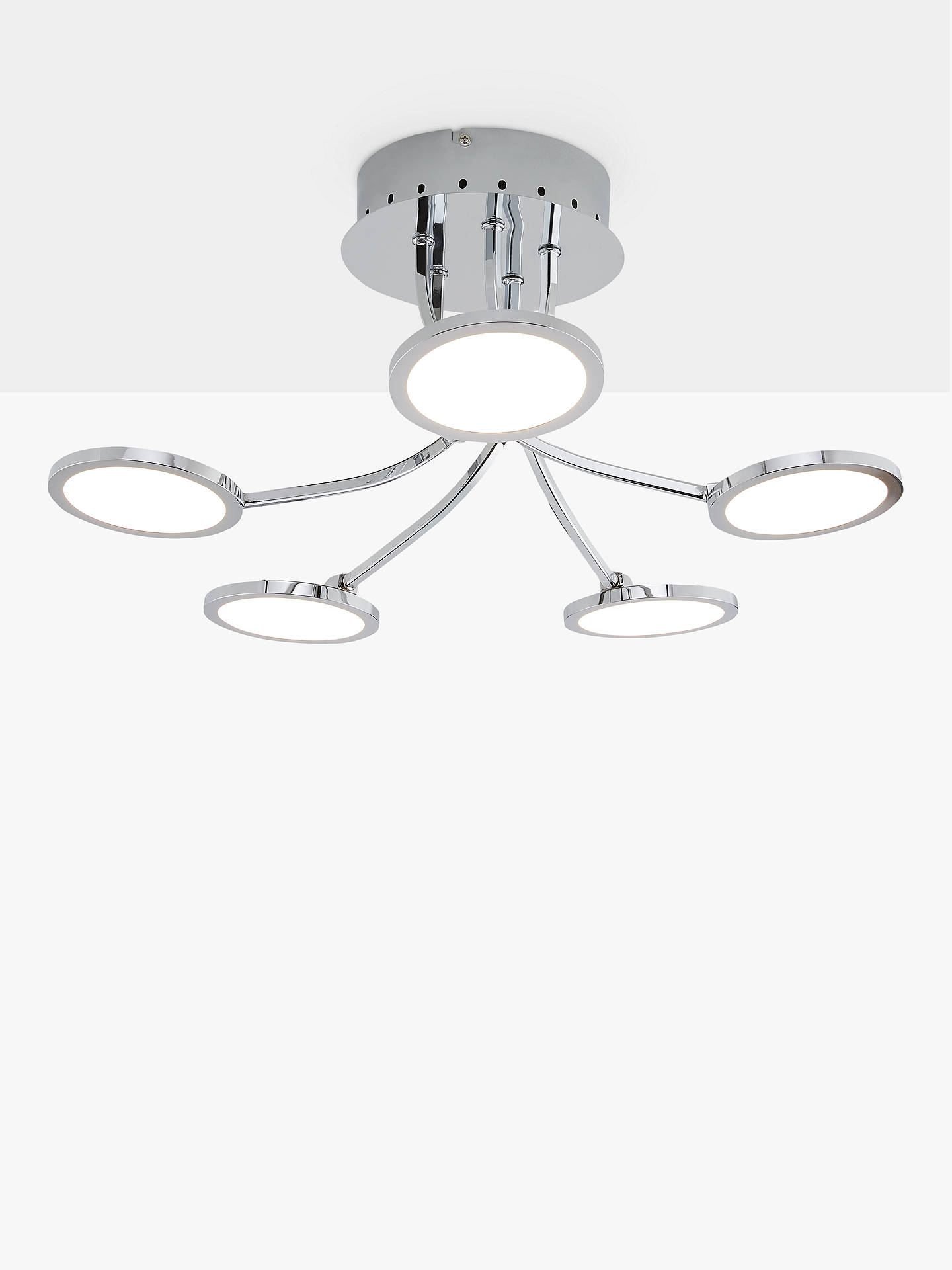 f429b38950dc Buy John Lewis & Partners Malmo LED Semi Flush Ceiling Light, Chrome Online  at johnlewis ...