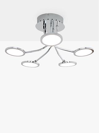 John Lewis & Partners Malmo LED Semi Flush Ceiling Light, Chrome