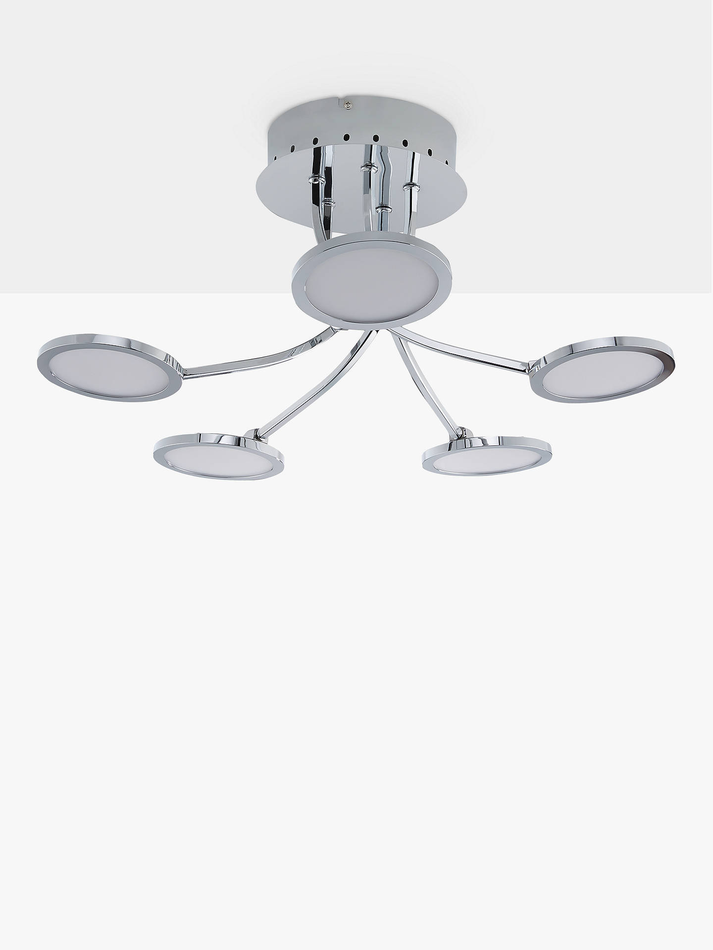 610bf7a24e9e ... Buy John Lewis & Partners Malmo LED Semi Flush Ceiling Light, Chrome  Online at johnlewis ...