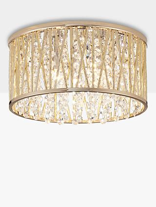 John Lewis & Partners Emilia Crystal Drum Flush Ceiling Light