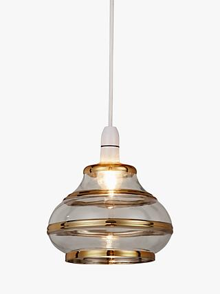 John Lewis & Partners Odette Easy-to-Fit Glass Ceiling Shade, Gold