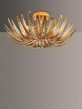 John Lewis & Partners Montserrat Leaf Semi Flush Ceiling Light