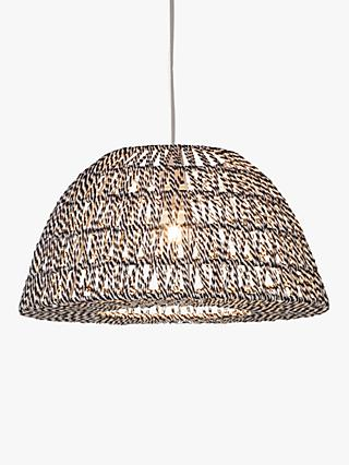 House by John Lewis Dominic Easy-to-Fit String Ceiling Shade, Black/White