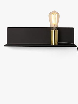 John Lewis Partners Monty Magnetic Shelf Wall Light Black Gold