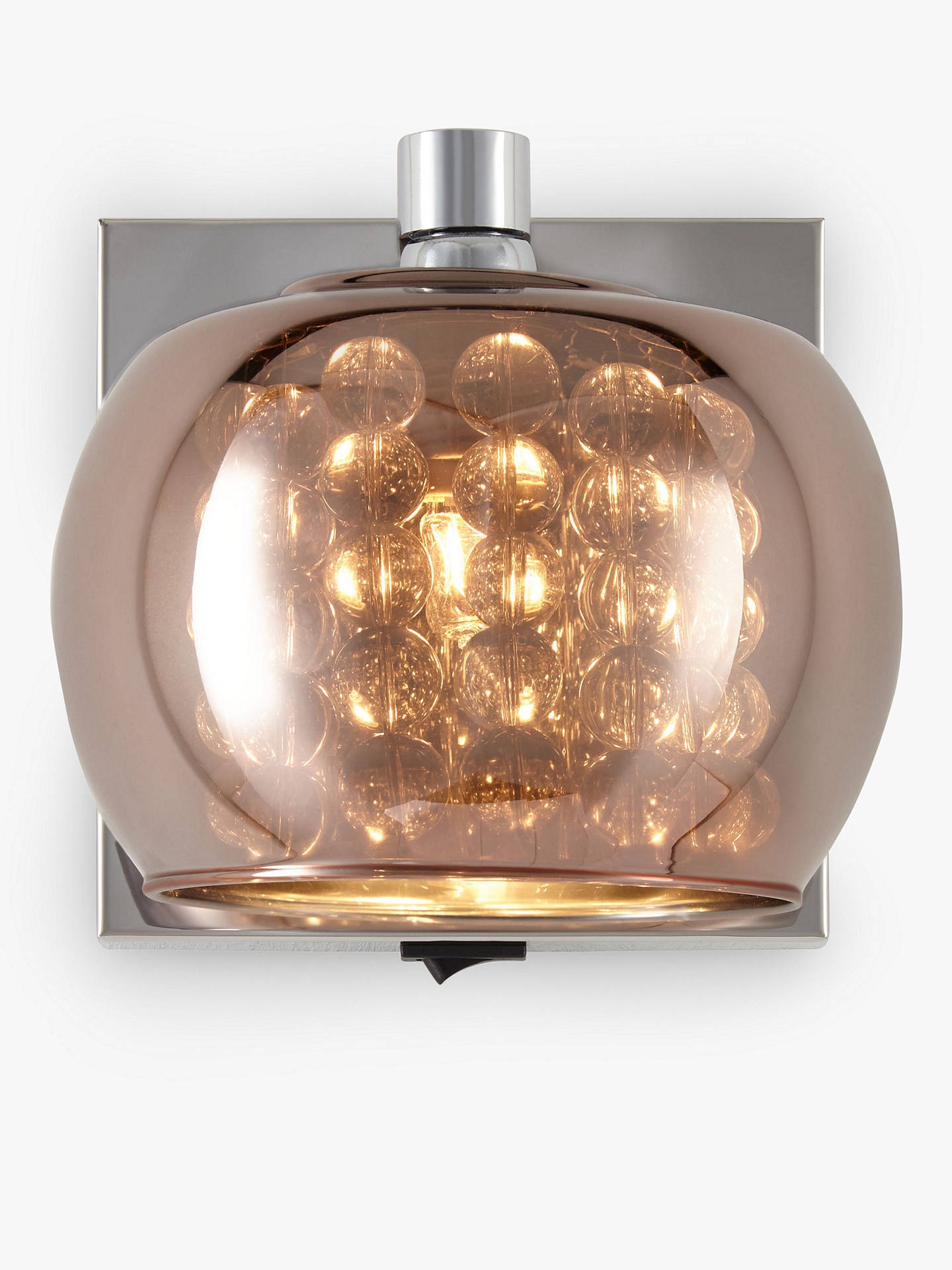 4203249219e0 Buy John Lewis & Partners Stella Glass Wall Light, Copper Online at  johnlewis. ...