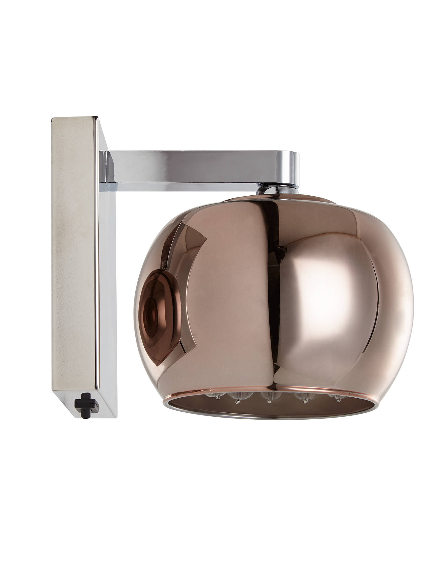 BuyJohn Lewis & Partners Stella Glass Wall Light, Copper Online at johnlewis.com