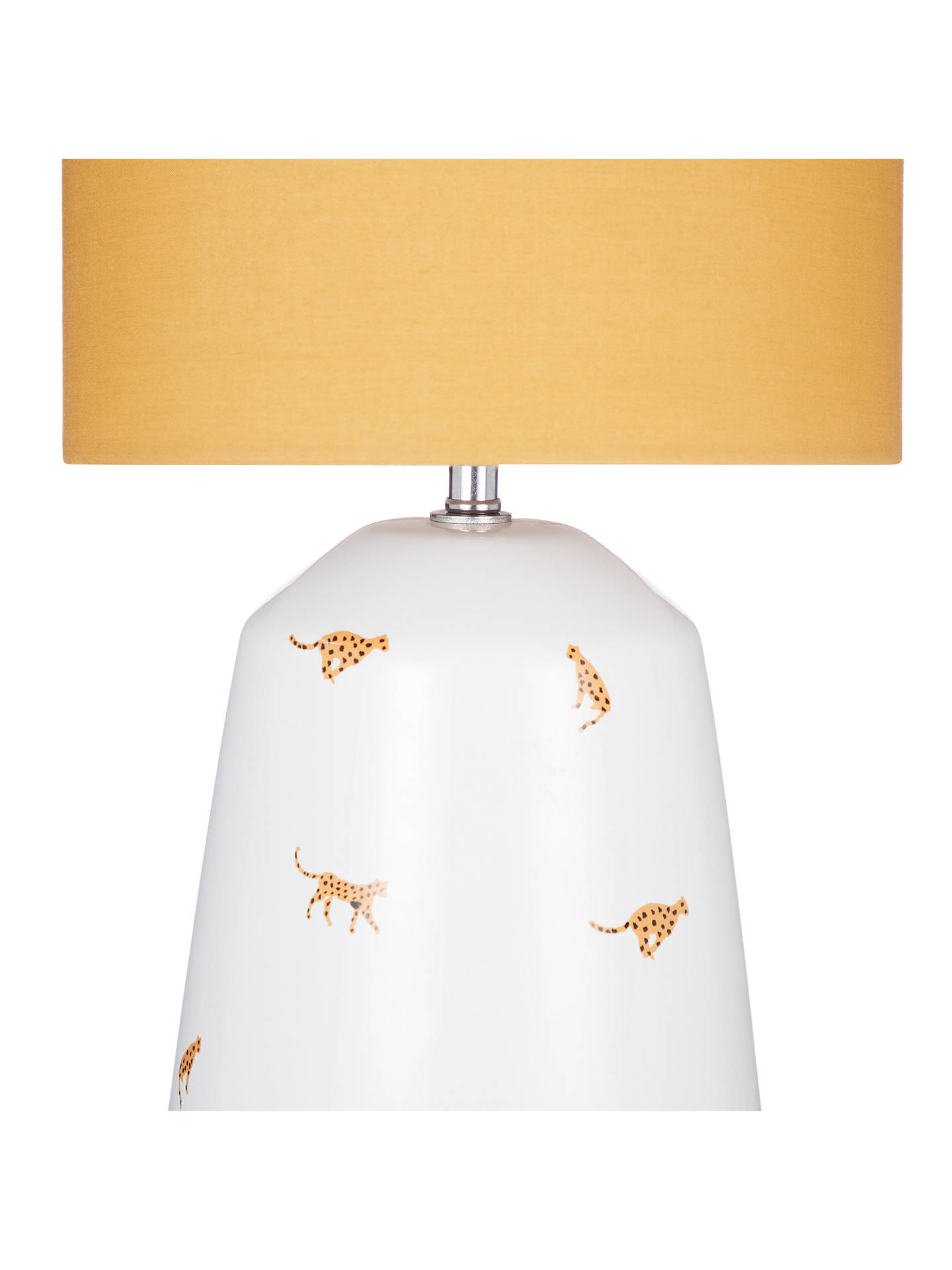 BuyHouse by John Lewis Cheetah Table Lamp, Mustard Online at johnlewis.com
