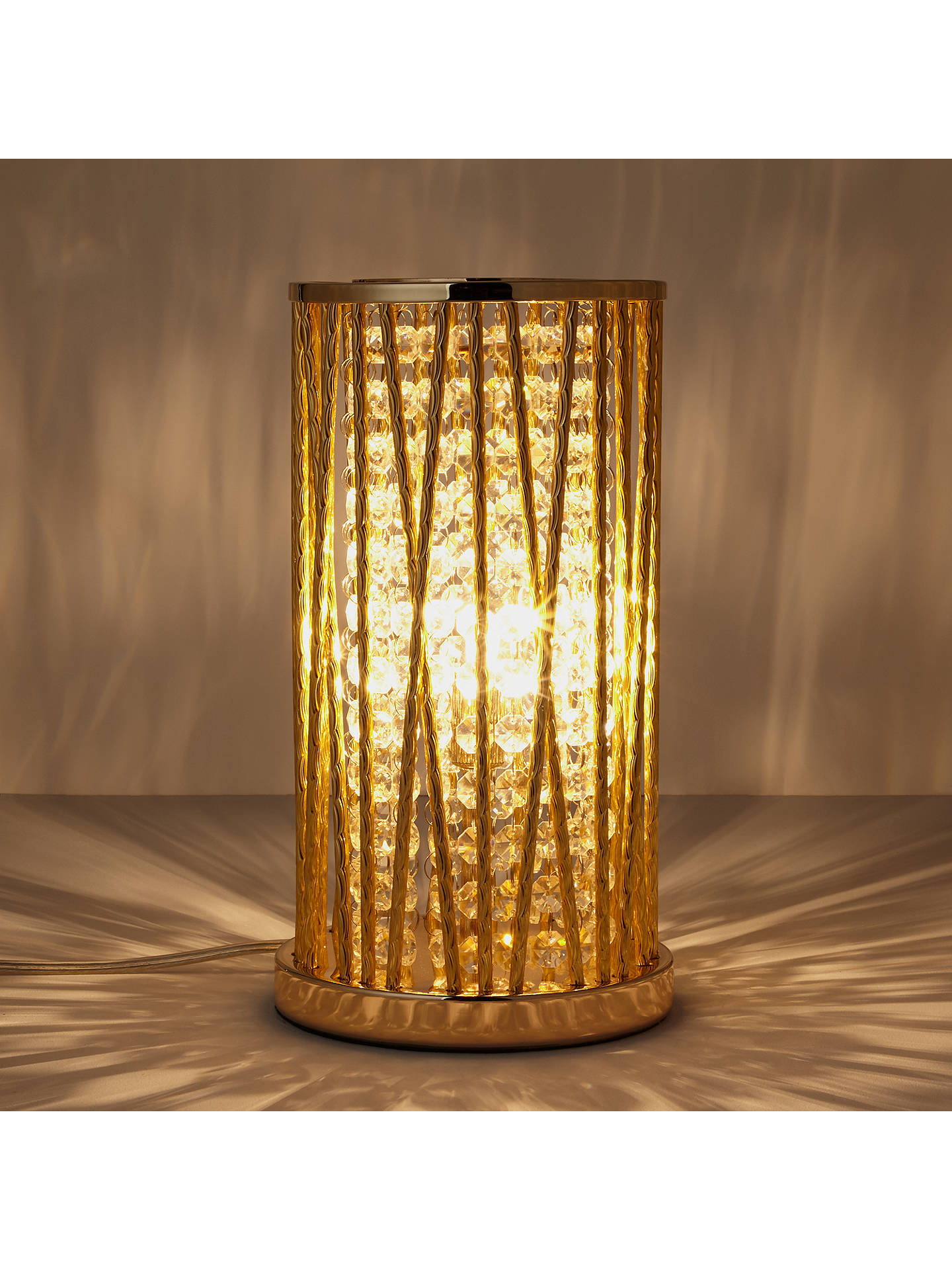 Buy John Lewis & Partners Emilia Jazzy Table Lamp, Gold Online at johnlewis.com