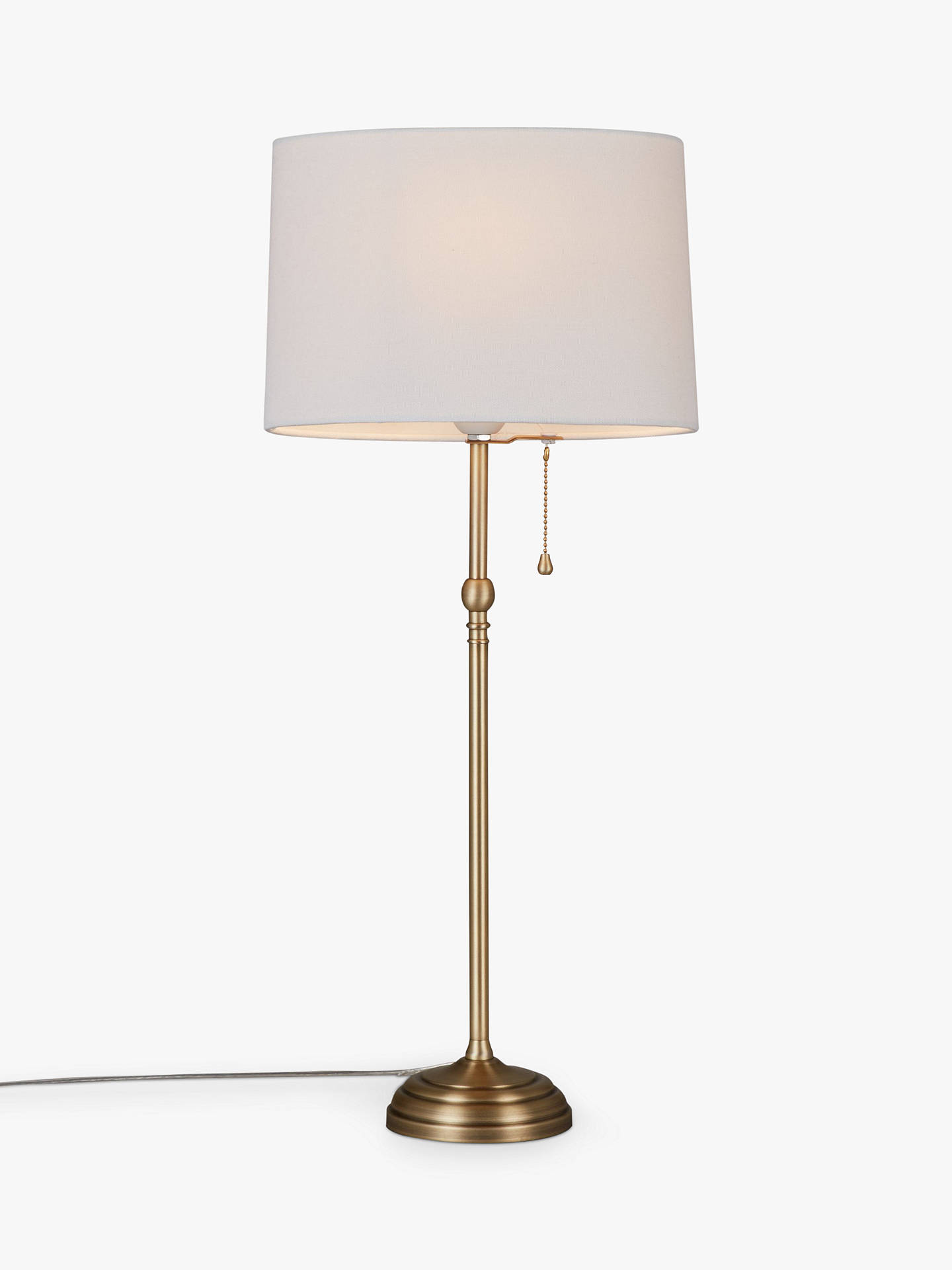 Buyjohn lewis partners isabel tall table lamp brass online at johnlewis