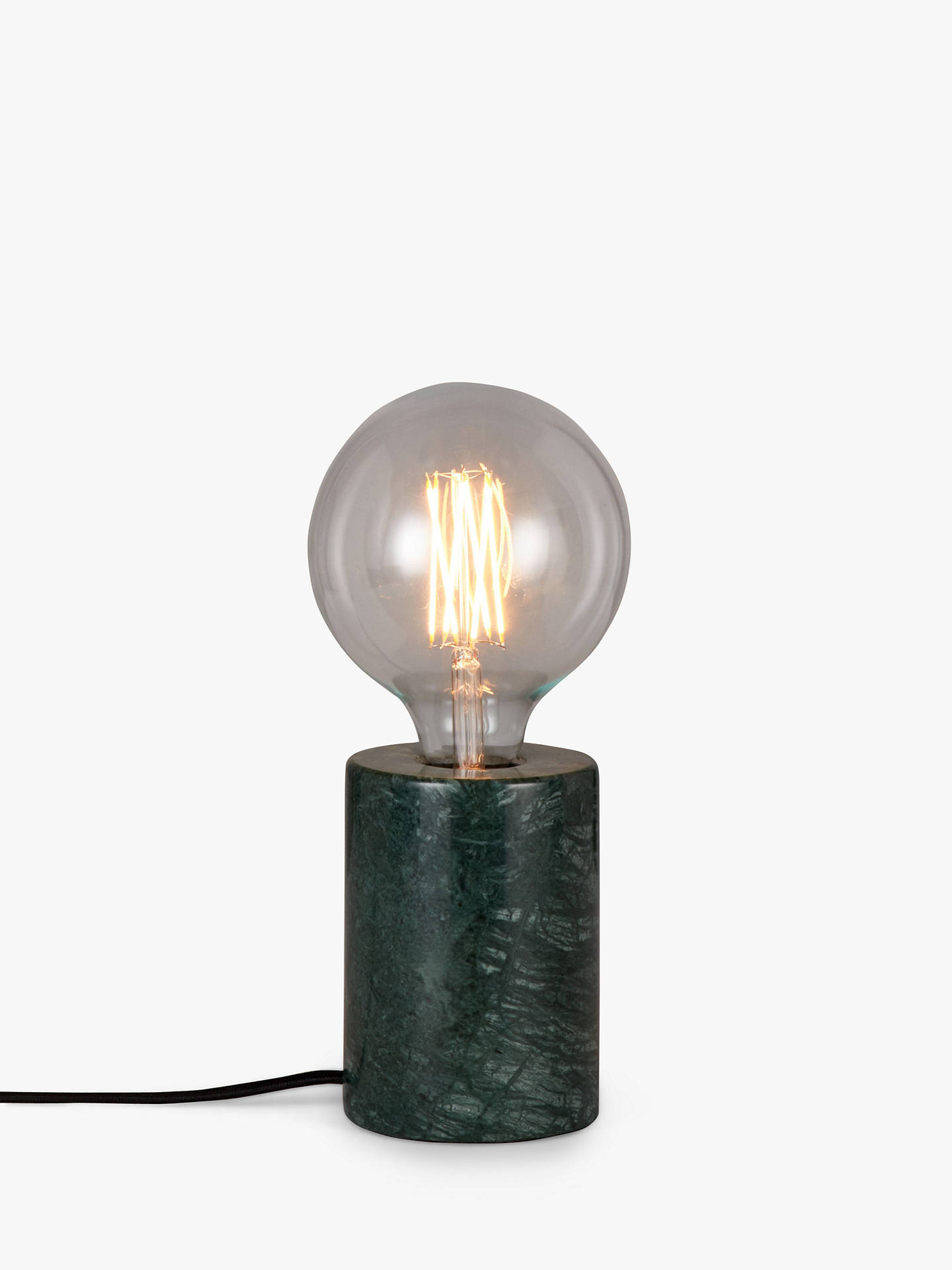 Design Project By John Lewis No 163 Marble Bulbholder Table Lamp Green