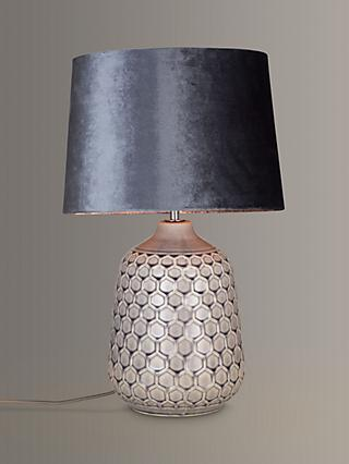 John Lewis & Partners Natalie Ceramic Table Lamp, Grey