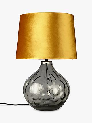 John Lewis Partners Vivienne Smoked Gl Table Lamp Grey