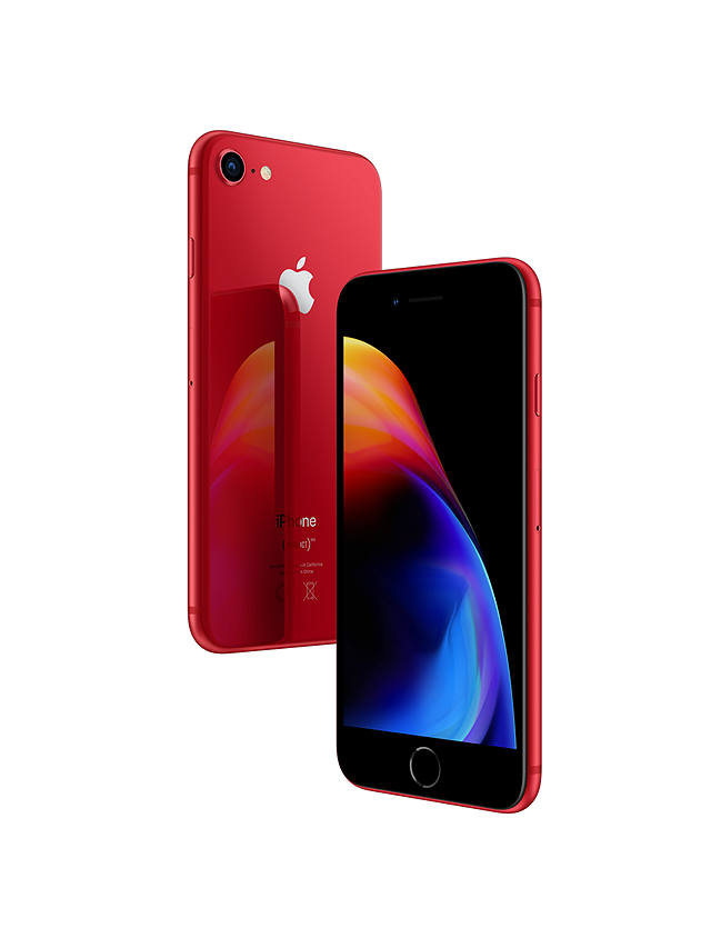 "Buy Apple iPhone 8, iOS 11, 4.7"", 4G LTE, SIM Free, 256GB, (PRODUCT)RED Online at johnlewis.com"