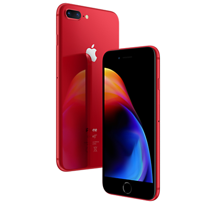 Image of Apple iPhone 8 Plus, iOS 11, 5.5, 4G LTE, SIM Free, 256GB, (PRODUCT)RED