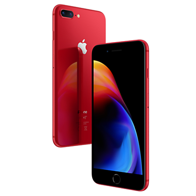 Image of Apple iPhone 8 Plus, iOS 11, 5.5, 4G LTE, SIM Free, 64GB, (PRODUCT)RED