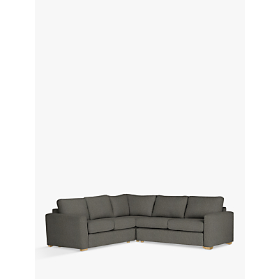 House by John Lewis Oliver Corner Pack Modular Sofa, Catrin Charcoal