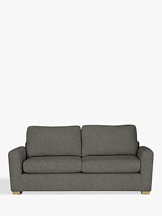 House by John Lewis Oliver Large 3 Seater Modular Sofa, Light Leg, Catrin Charcoal