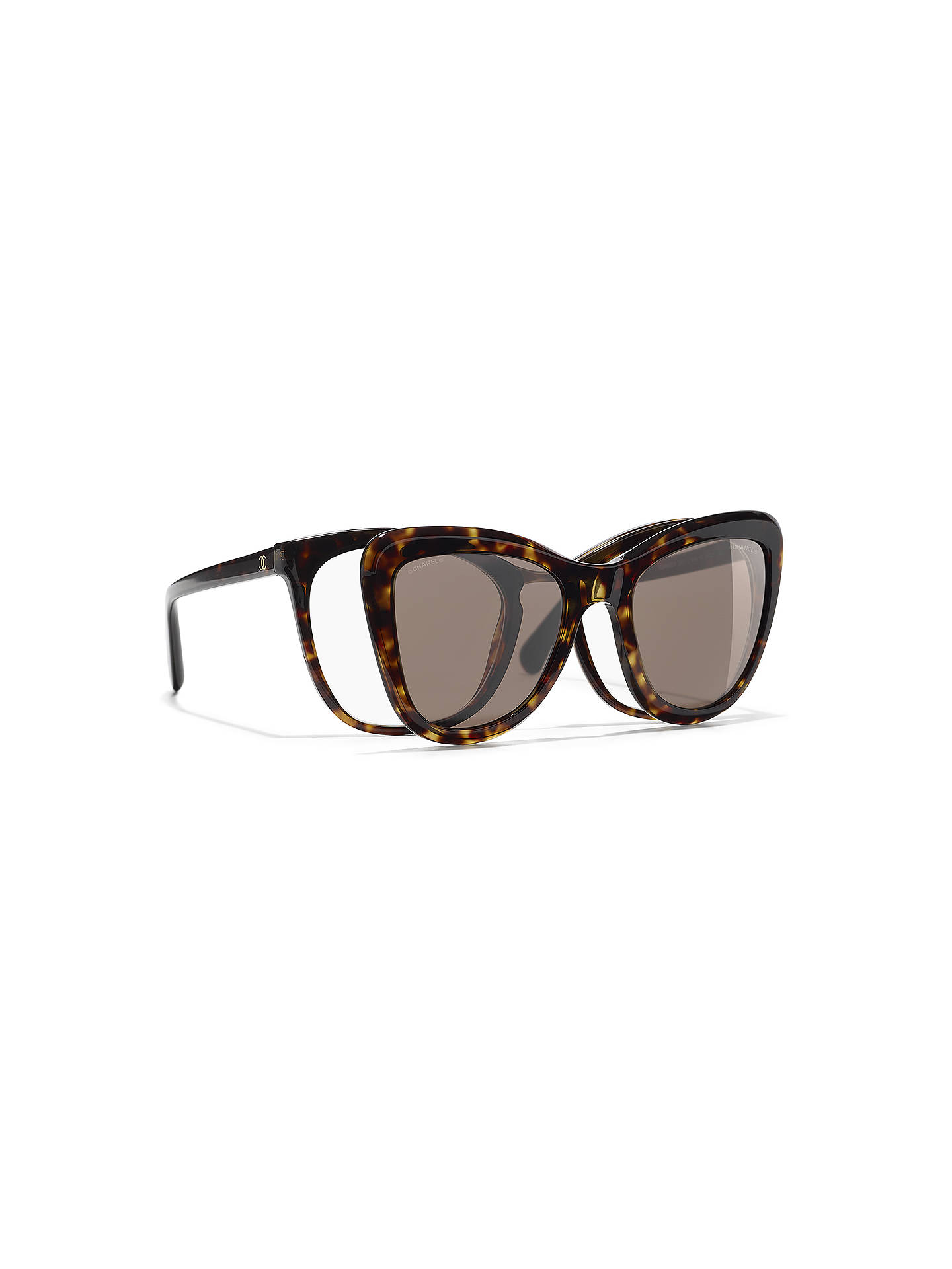 aa4c3e9263e Buy CHANEL Clip On Sunglasses CH5393 Tortoise Online at johnlewis.com ...
