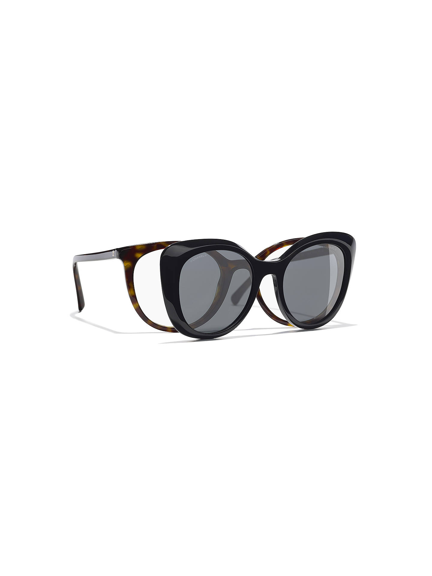 0e98d0c6e6a Buy CHANEL Clip On Sunglasses CH5390H Tortoise Online at johnlewis.com ...