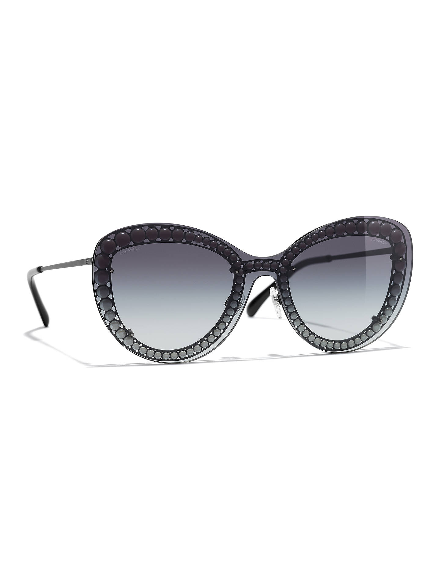 3d2288016d4 BuyCHANEL Butterfly Sunglasses CH4236H Black Online at johnlewis.com ...