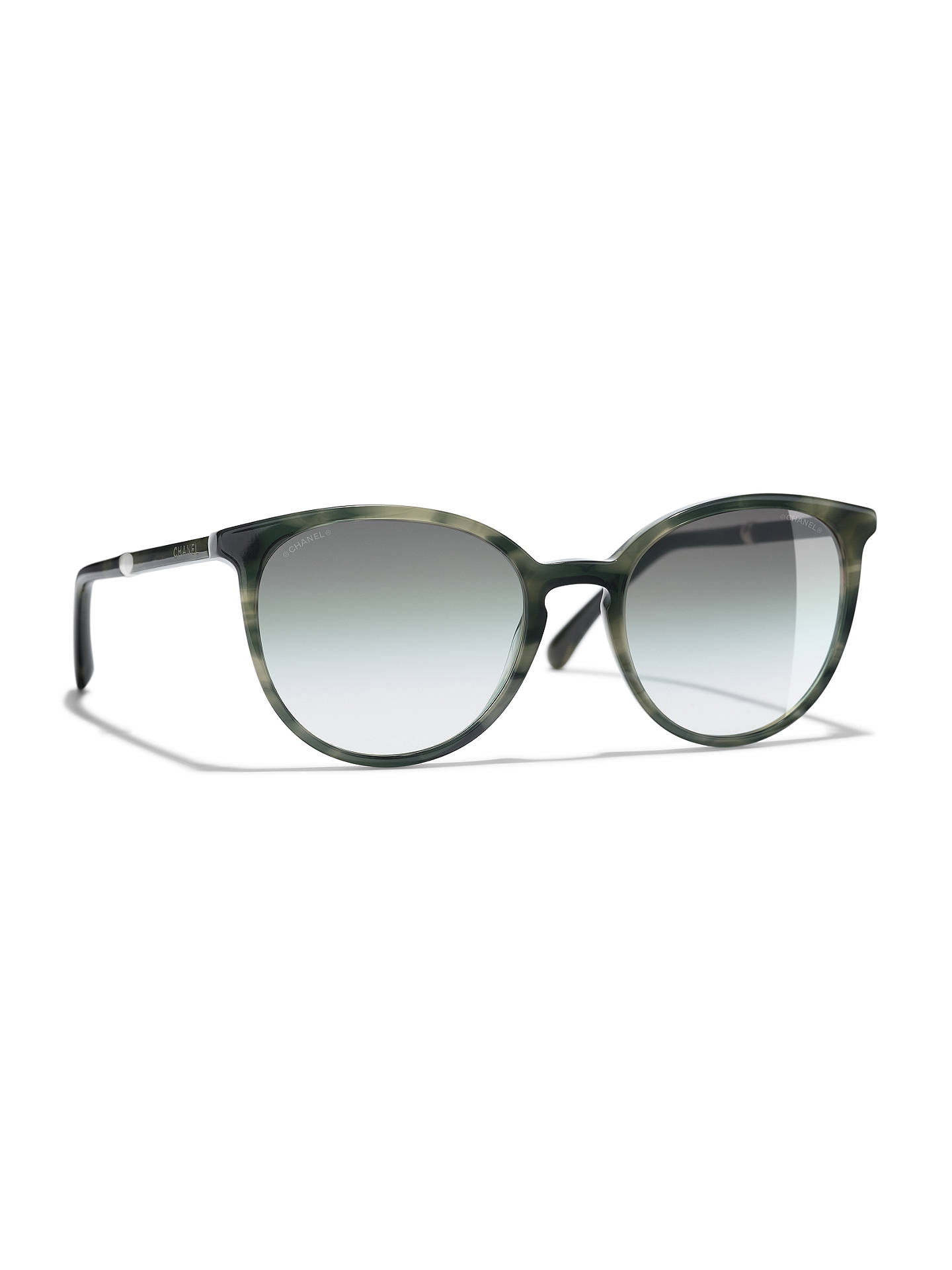 705d0ece8004 Buy CHANEL Pantos Sunglasses CH5394H Green Tortoise Online at johnlewis.com  ...