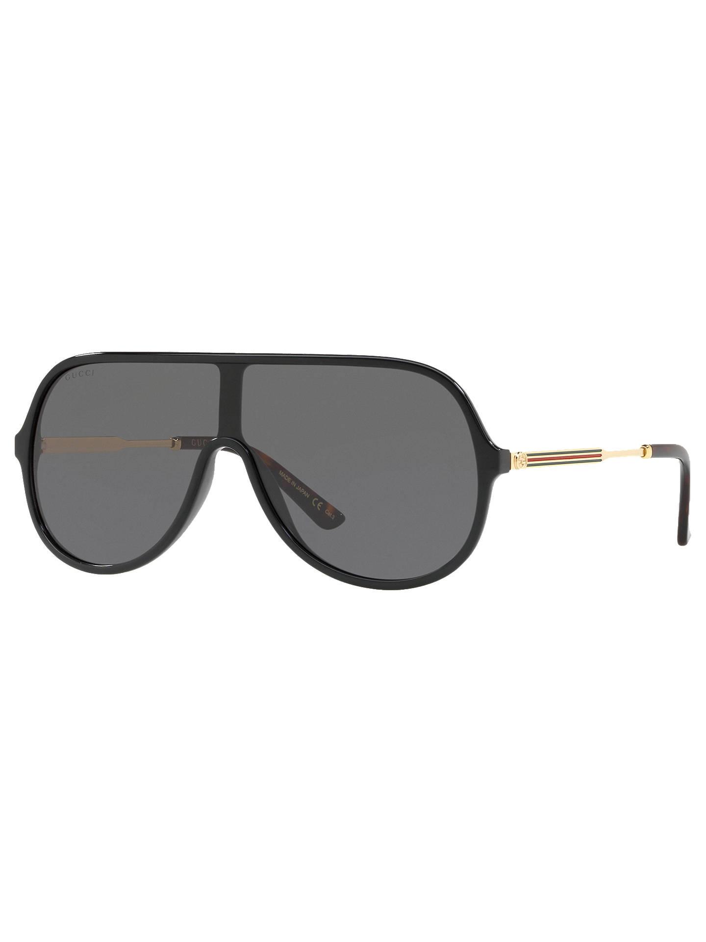 d561d09a9 Buy Gucci GG0199S Aviator Sunglasses, Black/Gold Online at johnlewis.com ...