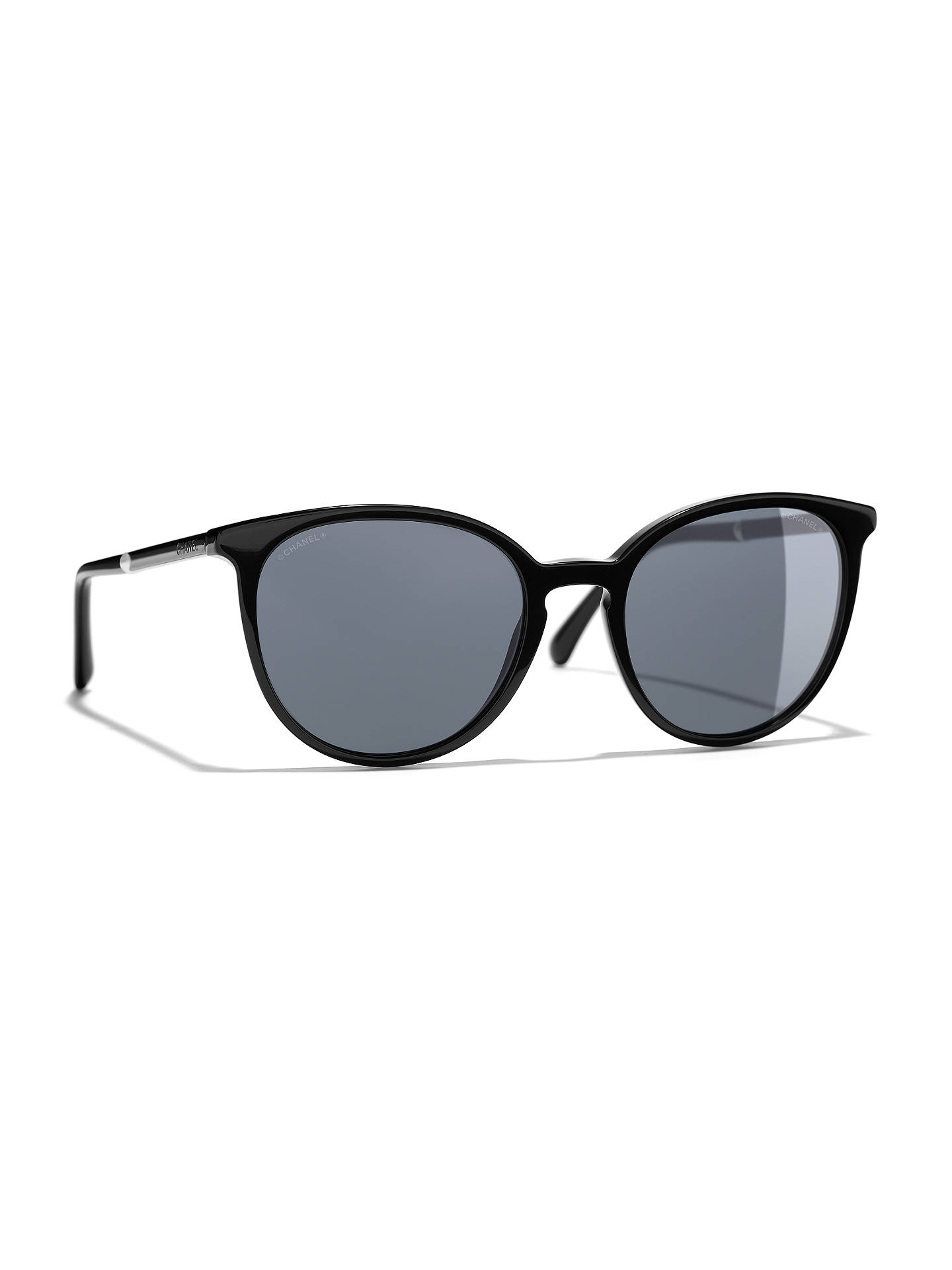 3cf13b41e0d8 Buy CHANEL Pantos Sunglasses CH5394H Black Online at johnlewis.com ...
