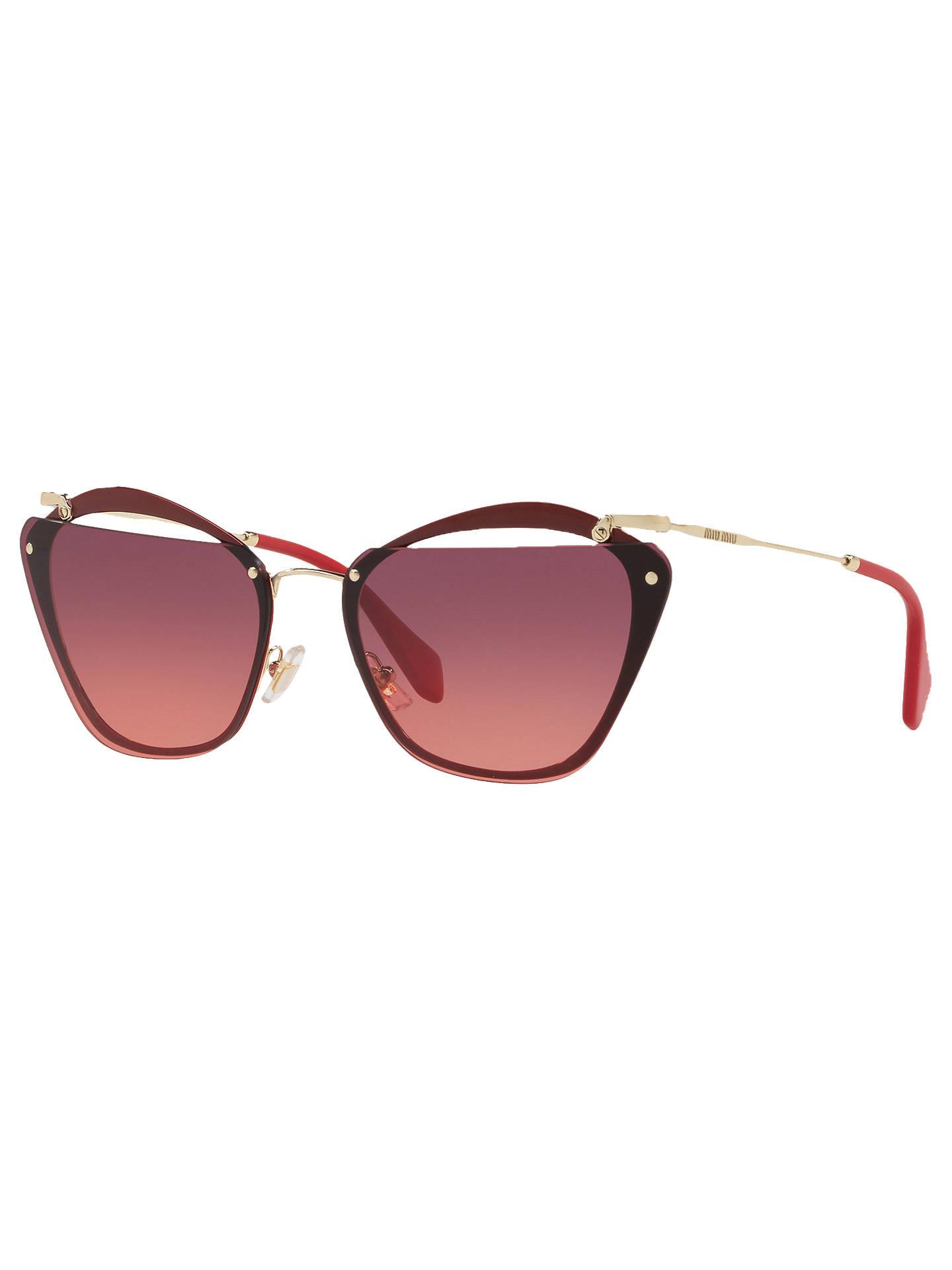 06d8f7dd935c Buy Miu Miu MU54TS Polarised Square Sunglasses