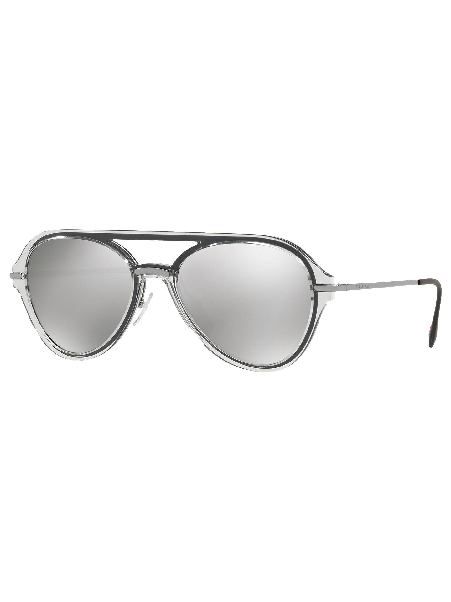 08de6d5bd17 Prada 04TS 57 Men s Polarised Aviator Sunglasses at John Lewis ...