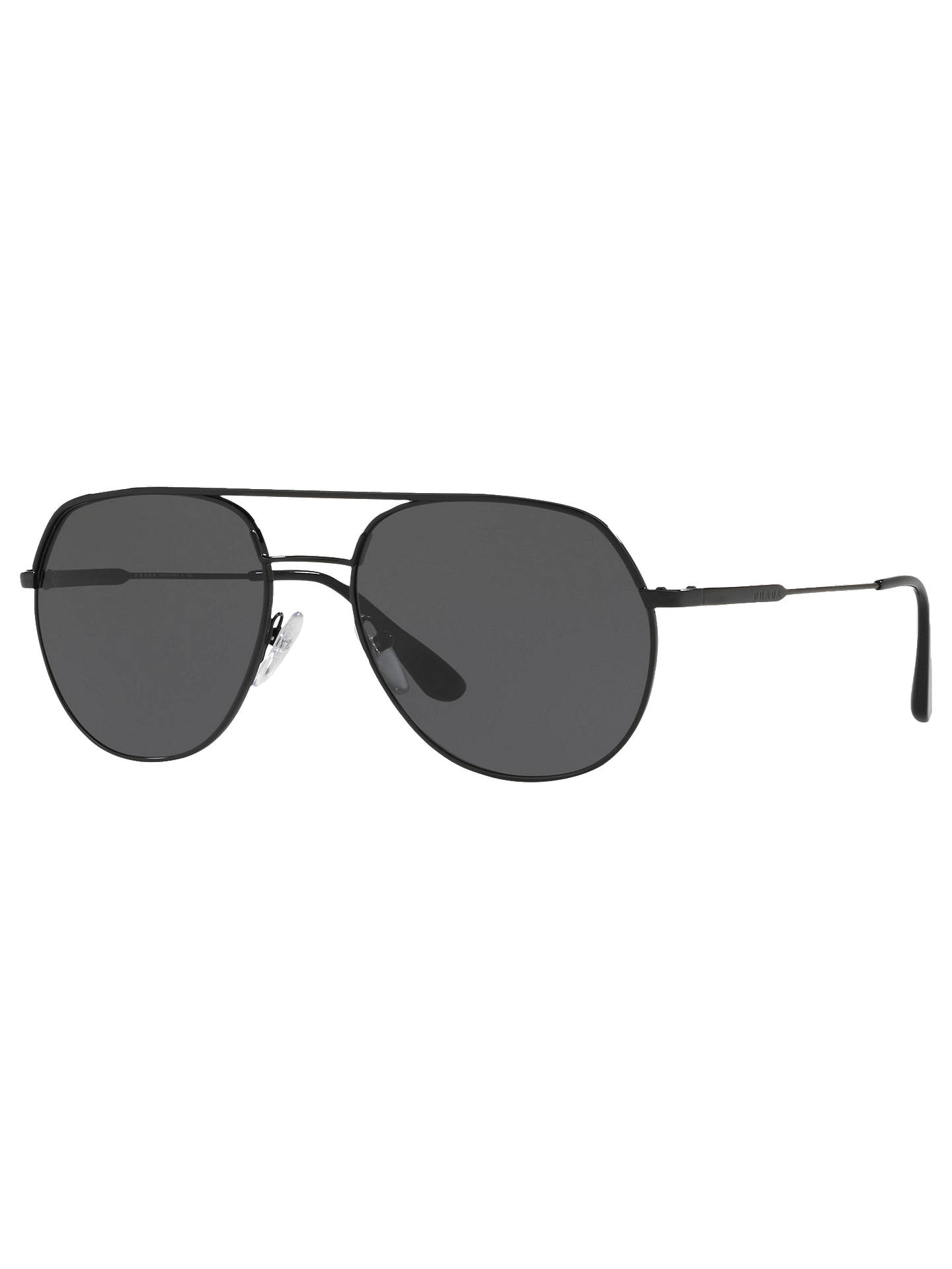 e5530525e0559 Prada 55US 57 Men s Polarised Aviator Sunglasses at John Lewis ...