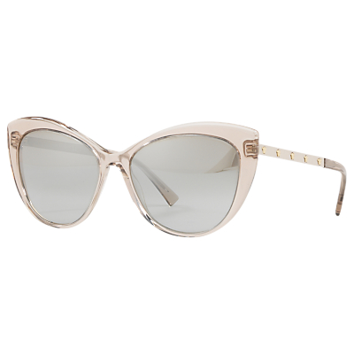Versace VE4348 Cat's Eye Sunglasses, Pink/Silver