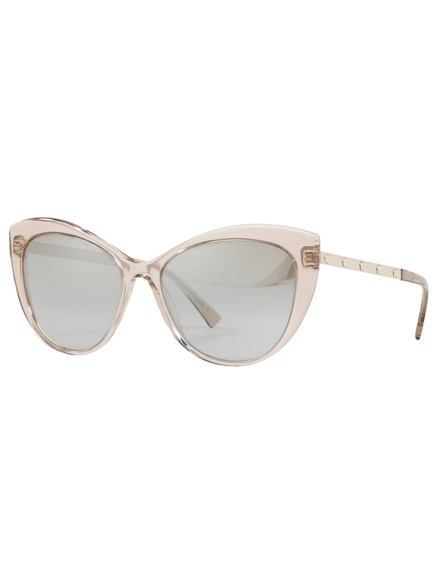 4a0e99cd4698 Buy Versace VE4348 Cat's Eye Sunglasses, Pink/Silver Online at johnlewis.  ...