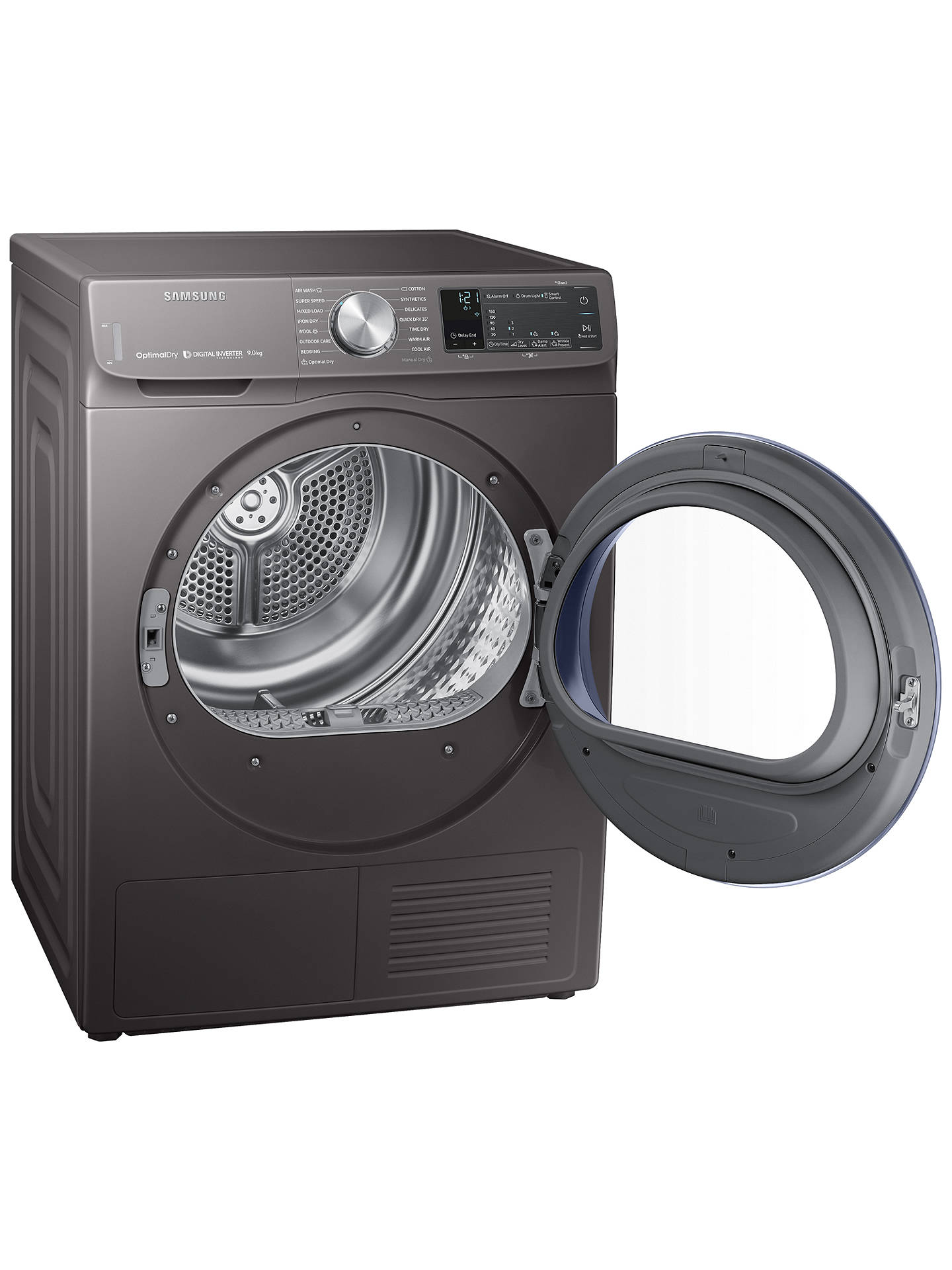 Buy Samsung DV90N62642X Heat Pump Tumble Dryer, 9kg Load, A+++ Energy Rating, Graphite Grey Online at johnlewis.com