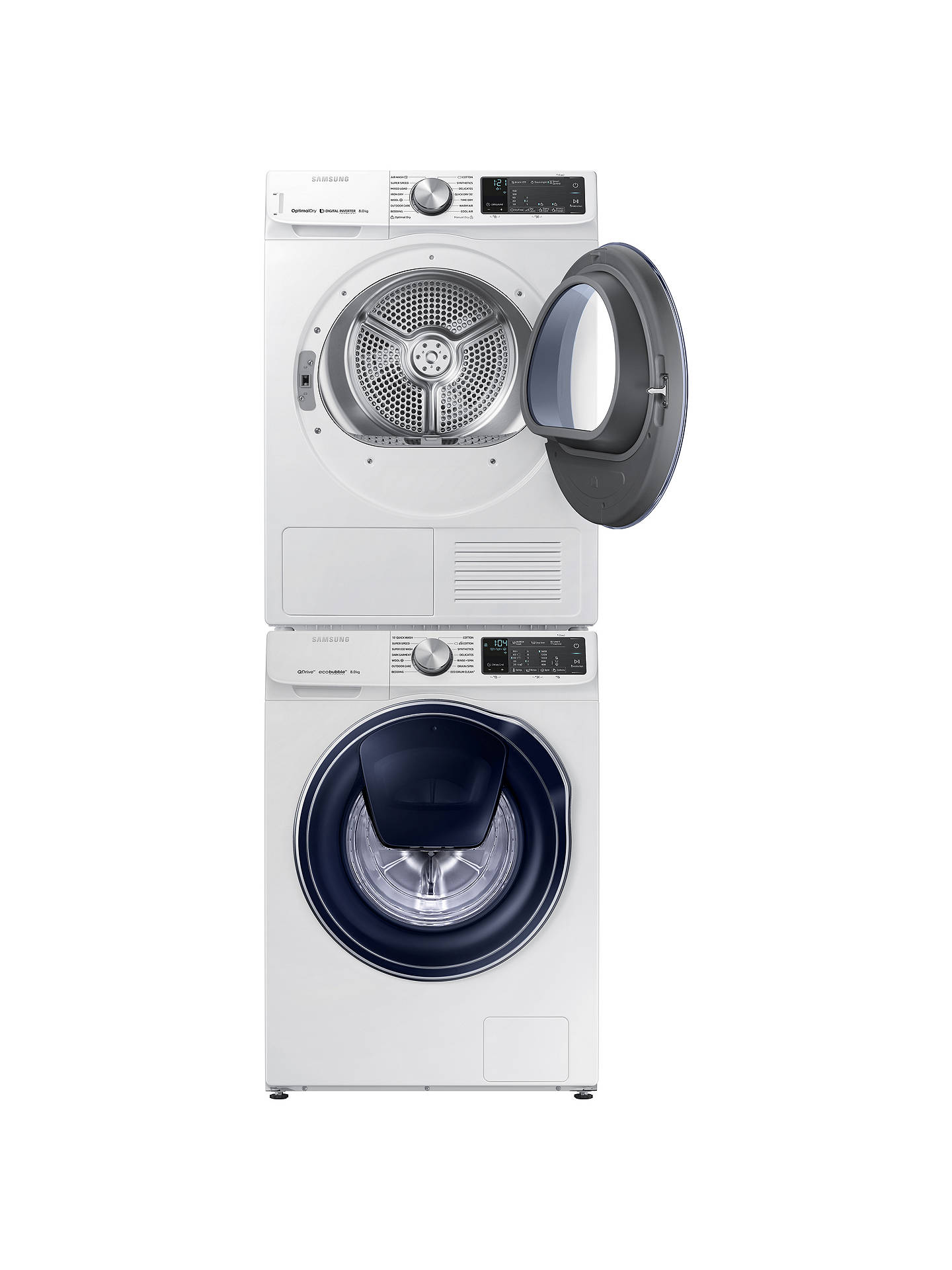 Buy Samsung DV80N62542W/EU Heat Pump Tumble Dryer, 8kg Load, A+++ Energy Rating, White Online at johnlewis.com