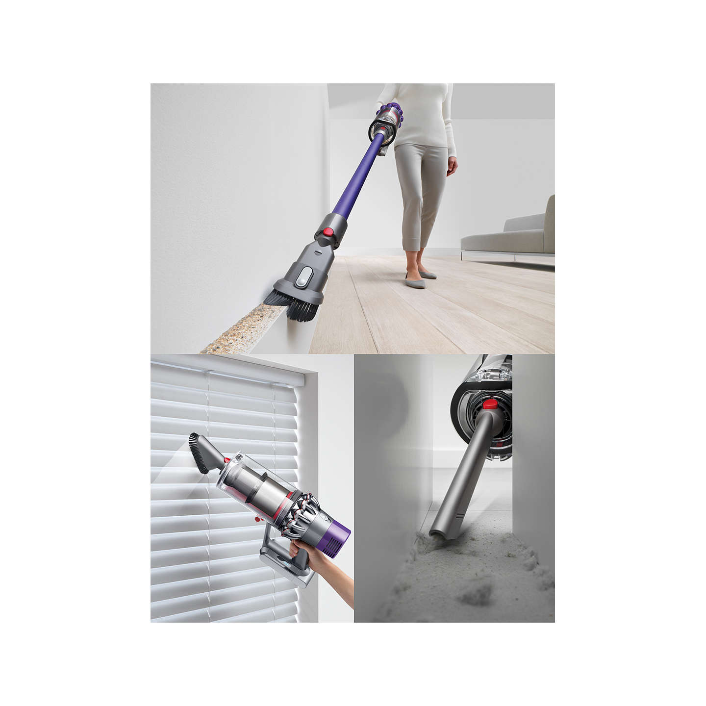 dyson cyclone v10 animal cordless vacuum cleaner purple at john lewis. Black Bedroom Furniture Sets. Home Design Ideas